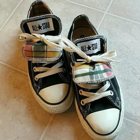 Converse Shoes With Multicolor Grid Decoration Poshmark